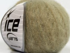 Lot of 6 Skeins Ice Yarns SUPERKID MOHAIR (31% Superwash Extrafine Merino Wool) Yarn Light Khaki