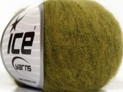 Lot of 6 Skeins Ice Yarns SUPERKID MOHAIR (31% Superwash Extrafine Merino Wool) Yarn Green