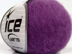 Lot of 6 Skeins Ice Yarns SUPERKID MOHAIR (47% SuperKid Mohair 31% Superwash Extrafine Merino Wool) Yarn Purple