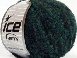 Lot of 8 Skeins Ice Yarns ALPACA BOUCLE FINE (25% Alpaca 25% Wool) Yarn Dark Green Shades