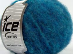 Lot of 8 Skeins Ice Yarns JAGUAR ALPACA (16% Alpaca 24% Wool) Yarn Turquoise Shades