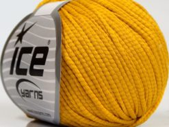Lot of 8 Skeins Ice Yarns TUBE SOFTY Hand Knitting Yarn Yellow