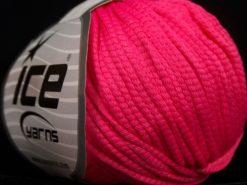 Lot of 8 Skeins Ice Yarns TUBE SOFTY Hand Knitting Yarn Fuchsia