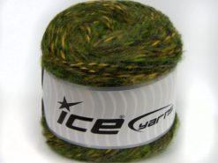 Lot of 2 x 150gr Skeins Ice Yarns CAKES ALPACA COLORS (20% Alpaca 50% Wool) Yarn Green Shades Yellow