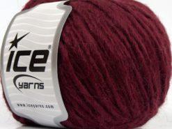 Lot of 8 Skeins Ice Yarns ETNO ALPACA (25% Alpaca 50% Merino Wool) Yarn Dark Burgundy