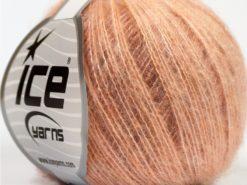 Lot of 10 Skeins Ice Yarns FLUFFY SUPERFINE (20% Wool) Yarn Orange Shades
