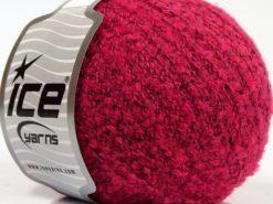 Lot of 8 Skeins Ice Yarns ALPACA BOUCLE SUPERFINE (15% Alpaca 12% Wool) Yarn Fuchsia