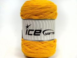 Lot of 2 x 200gr Skeins Ice Yarns NATURAL COTTON CHUNKY (100% Cotton) Yarn Yellow