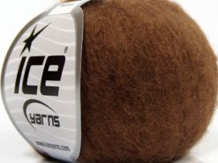 Lot of 6 Skeins Ice Yarns SUPERKID MOHAIR (31% Superwash Extrafine Merino Wool) Yarn Brown