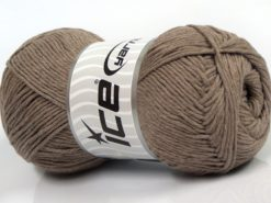 Lot of 4 x 100gr Skeins Ice Yarns NATURAL COTTON (100% Cotton) Yarn Camel
