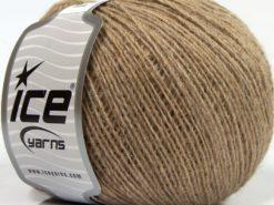 Lot of 8 Skeins Ice Yarns PERU ALPACA FINE (25% Alpaca 50% Merino Wool) Yarn Light Brown