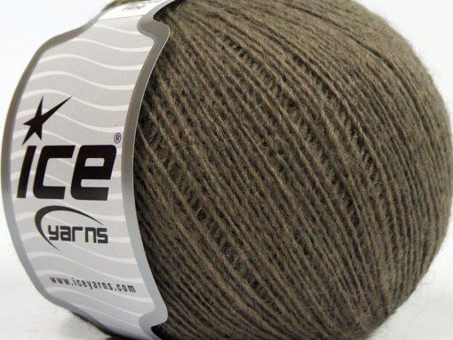 Lot of 8 Skeins Ice Yarns PERU ALPACA FINE (25% Alpaca 50% Merino Wool) Yarn Dark Camel