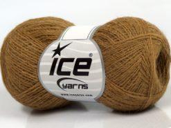 Lot of 10 Skeins Ice Yarns PERU ALPACA SUPERFINE (25% Alpaca 50% Merino Wool) Yarn Milky Brown