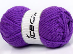 Lot of 4 x 100gr Skeins Ice Yarns ATLAS SUPERBULKY Hand Knitting Yarn Purple