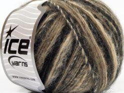 Lot of 8 Skeins Ice Yarns ALPACA DELUXE (20% Alpaca 50% Wool) Yarn Camel Shades Black
