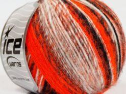 Lot of 8 Skeins Ice Yarns ALPACA DELUXE (20% Alpaca 50% Wool) Yarn Neon Orange Black Grey White