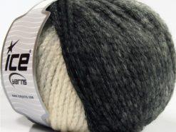 Lot of 4 x 100gr Skeins Ice Yarns NORDIC (23% Wool) Yarn Black Grey Cream