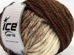 Lot of 4 x 100gr Skeins Ice Yarns NORDIC (23% Wool) Yarn Brown Shades Cream