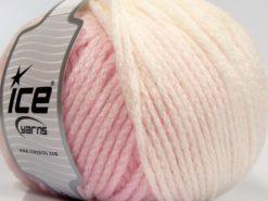 Lot of 4 x 100gr Skeins Ice Yarns NORDIC (23% Wool) Yarn Light Pink White
