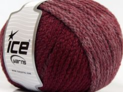 Lot of 4 x 100gr Skeins Ice Yarns NORDIC (23% Wool) Yarn Burgundy Shades