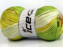 Lot of 4 x 100gr Skeins Ice Yarns CAMILLA COTTON MAGIC (100% Mercerized Cotton) Yarn Green Shades Caramel