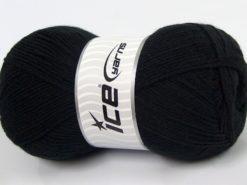 Lot of 4 x 100gr Skeins Ice Yarns SOFTLY BABY FINE Hand Knitting Yarn Black