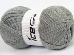 Lot of 4 x 100gr Skeins Ice Yarns SOFTLY BABY FINE Yarn Light Grey