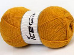 Lot of 4 x 100gr Skeins Ice Yarns SOFTLY BABY FINE Hand Knitting Yarn Gold