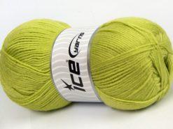 Lot of 4 x 100gr Skeins Ice Yarns SOFTLY BABY FINE Yarn Pistachio Green