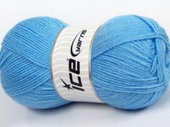 Lot of 4 x 100gr Skeins Ice Yarns SOFTLY BABY FINE Yarn Light Blue