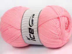 Lot of 4 x 100gr Skeins Ice Yarns SOFTLY BABY FINE Yarn Light Pink