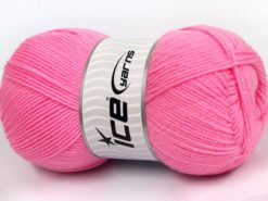Lot of 4 x 100gr Skeins Ice Yarns SOFTLY BABY FINE Hand Knitting Yarn Pink