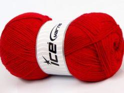 Lot of 4 x 100gr Skeins Ice Yarns SOFTLY BABY FINE Hand Knitting Yarn Red