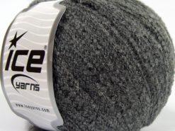Lot of 8 Skeins Ice Yarns ALPACA BOUCLE FINE (25% Alpaca 25% Wool) Yarn Grey