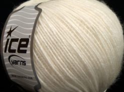 Lot of 8 Skeins Ice Yarns WOOL CORD LIGHT (50% Wool) Yarn Off White