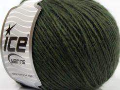 Lot of 8 Skeins Ice Yarns WOOL CORD LIGHT (50% Wool) Yarn Dark Khaki