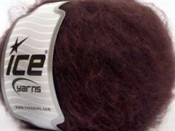 Lot of 8 Skeins Ice Yarns KAN MOHAIR (20% Mohair 25% Wool) Yarn Dark Maroon
