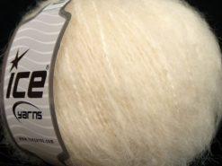 Lot of 8 Skeins Ice Yarns KAN MOHAIR (20% Mohair 25% Wool) Yarn Light Cream
