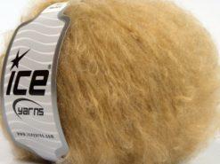 Lot of 8 Skeins Ice Yarns KAN MOHAIR (20% Mohair 25% Wool) Yarn Milky Brown