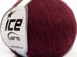 Lot of 10 Skeins Ice Yarns SALE WINTER (15% Mohair 10% Wool) Yarn Dark Burgundy