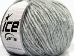 Lot of 8 Skeins Ice Yarns SALE WINTER (12% Wool) Hand Knitting Yarn Light Grey