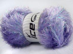 Lot of 4 x 100gr Skeins Ice Yarns EYELASH DAZZLE Hand Knitting Yarn Lilac