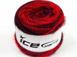 Lot of 2 x 150gr Skeins Ice Yarns SALE CAKES YARN (20% Alpaca 50% Wool) Yarn Red Shades Black