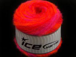 Lot of 2 x 150gr Skeins Ice Yarns SALE CAKES YARN (20% Alpaca 50% Wool) Yarn Neon Orange Fuchsia Red
