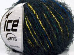 Lot of 8 Skeins Ice Yarns SALE EYELASH BLEND Yarn Black Blue Yellow Green