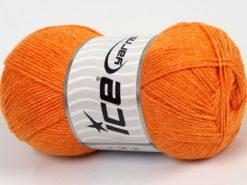 Lot of 4 x 100gr Skeins Ice Yarns BAMBOO BABY (60% Bamboo) Yarn Orange
