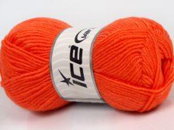 Lot of 8 Skeins Ice Yarns SALE WINTER (40% Wool) Hand Knitting Yarn Orange