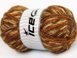 Lot of 4 x 100gr Skeins Ice Yarns SALE WINTER (25% Wool) Yarn Brown Shades