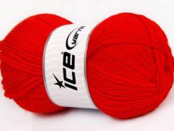 Lot of 4 x 100gr Skeins Ice Yarns SALE WINTER (50% Wool) Hand Knitting Yarn Red