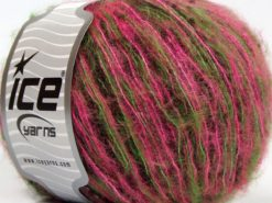 Lot of 8 Skeins Ice Yarns SALE LUXURY-PREMIUM (10% Alpaca 22% Wool) Yarn Pink Green Dark Brown